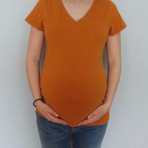 XS MATERNITY- Orange top
